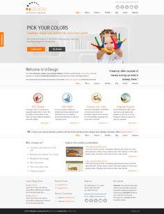 U-Design, $51-75, Built-in SEO, Business, E-Commerce, Responsive, Shortcodes, Sidebar, Slider, Social media