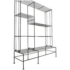 Light and Airy French Modernist Iron and Brass Shelving Unit 1