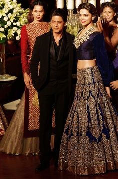 beautiful color for a lehnga...very regal n royal...love love love the blue and gold!