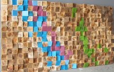 Reclaimed Wood wall Art 20x40, wood mosaic, geometric art, wood wall art by GBandWood on Etsy