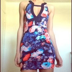 Floral live culture mini dress Size small, worn once! Pretty colors, perfect for spring and summer! Love Culture Dresses Mini