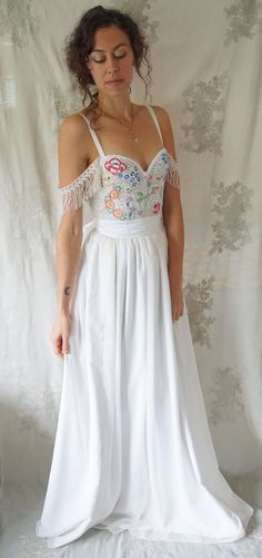 Meadow Wedding Gown... bustier corset boho whimsical