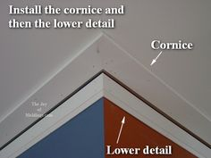 TRIM THROUGHOUT THE HOUSE:   craftsman crown molding