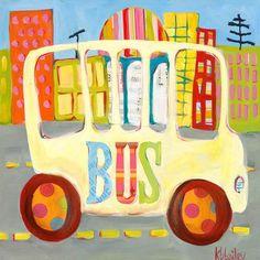 City Bus Canvas Art