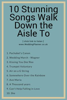 10 amazing wedding songs to walk down the aisle to. 10 amazing wedding songs to walk down the aisle to that you have to listen to Wedding Song List, Wedding Playlist, Wedding Tips, Wedding Events, Country Wedding Songs, Wedding Stuff, Wedding Photos, Walking Song, Wedding Ceremony Music