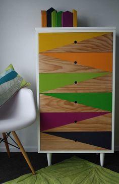 4 Happy Tips: Repurposed Furniture Ikea furniture design tv unit. Funky Furniture, Repurposed Furniture, Furniture Projects, Furniture Making, Furniture Makeover, Vintage Furniture, Furniture Decor, Painted Furniture, Furniture Design