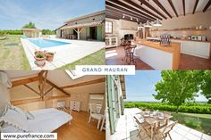 Country home sleeps 8 with heated pool & air conditioning. www.purefrance.com/47062
