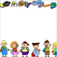 school theme border clipart | School borders for word documents Free vector for free download (about ...