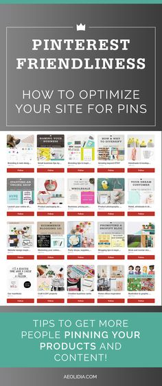 Tips to make your online shop Pinterest friendly, so you can make it easy for your site visitors to pin your products & content!
