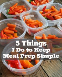 Once a week food prep does not need to be time consuming or complicated. Here are 5 Things I do To Keep Meal Prep Simple.