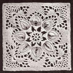 http://cdn100.iofferphoto.com/i vintage-crochet-pattern-bedspread-motif-block-puritan