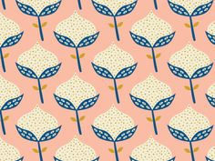 Scandinavian flower pattern by Karin Bijlsma