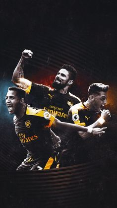 Alexis, Giroud, Ozil – Daily Sports News Arsenal Fc, Arsenal Players, Arsenal Wallpapers, Alexis Sanchez, European Soccer, Soccer Stars, World Football, Neymar, Art