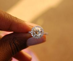 Old European cut diamond in pave halo. I can has plez? Bling Wedding, Wedding Stuff, Dream Wedding, Halo Setting, European Cut Diamonds, Diamond Settings, Diamond Cuts, Halo Diamond, Jewelery