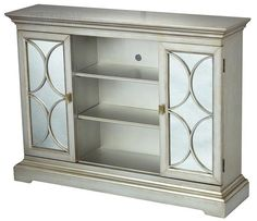 This cabinet is a beautiful addition for hallways. It can also be used as a  side table in a narrow dining room.