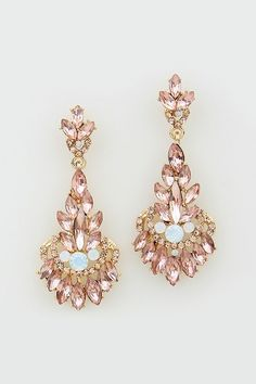 Illume Earrings in Rose Champagne # Women's Clothes, Casual Dresses, Fashion Earrings & Accessories # Emma Stine Limited