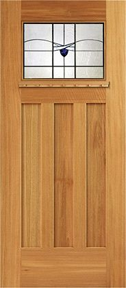 Arts and Crafts Style Decks | International Door: Craftsman Style Entry Door with Square Edges and ...