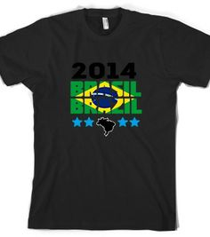 BRAZIL WORLD CUP 2014.. Check out my new design on @Skreened Tees Tees