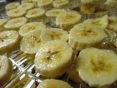 How to Make your own Banana Chips I don't add sugar or lemon juice and they are a delicious healthy snack!  They are AWESOME to add to trail mix!