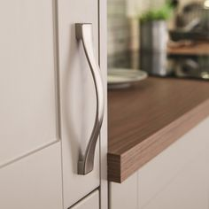 Stainless Steel Effect curved D handle
