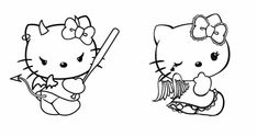 hello kitty angel and devil Bff Tattoos, Future Tattoos, Body Art Tattoos, Small Tattoos, Aesthetic Tattoo, Aesthetic Drawing, Hello Kitty Drawing, Hello Kitty Tattoos, Devil Tattoo