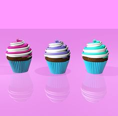 Only just started using #cinema4d but I made some #cupcakes #C4D #sweet #cake by jazlclark