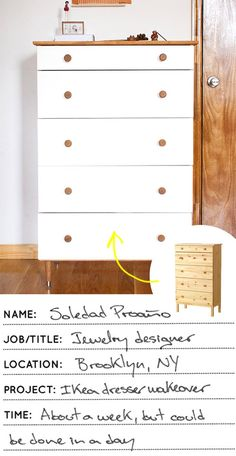 Proof that Danish Oil and paint can transform any IKEA dresser into something fantastic #ikea #makeover #dresser #danishoil