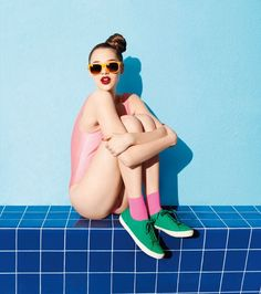 Planes veraniegos en 3, 2, 1! Lo importante es el color: Anais Pouliot by Terry Richardson for Aldo, Spring/Summer 2012