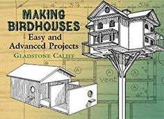 This practical guide for building birdhouses contains plans for more than fifty attractive and useful structures -- from a one-room house for bluebirds to a forty-two-room structure for purple martins. In addition to instructions and diagrams for construc Woodworking Plans, Woodworking Projects, Woodworking Tools, Martin Bird House, One Room Houses, Purple Martin, Birdhouse Designs, Birdhouse Ideas, Bird House Kits