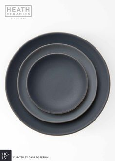 Heath Ceramics | Indigo/Slate - Dinner Plate, Salad Plate, Bread Plate // Casa de Perrin