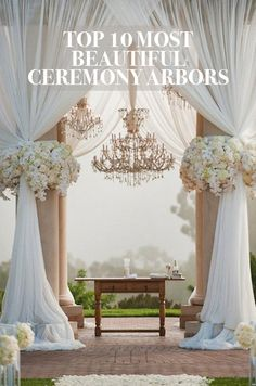 We've oohed and aahed over the most beautiful wedding arbors of the year, and are sharing the prettiest of the pretty with you. Click to view the full gallery.