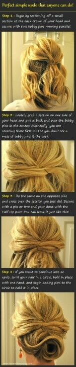 Updo for when I have short hair