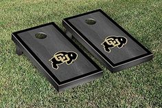 Colorado Buffaloes Cornhole Game Set Onyx Stained Border Version >>> Read more  at the image link.