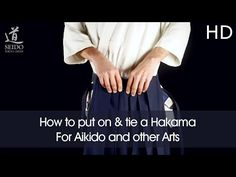 How to put on and tie a Hakama - 3 ways, very detailed (w/ subtitles) - YouTube