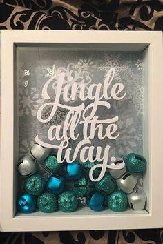Jingle All the Way Shadow Box by Katttyyydid on Etsy