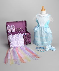Take a look at this Xcessory International Purple Zebra Trunk Set on zulily today!