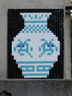 PA-1161-3eme-30pts Street Art, Space Invaders, Paris, Best Artist, Mosaic Art, Urban Art, Pixel Art, Projects, Photos