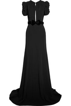Burberry Prorsum|Belted crepe gown