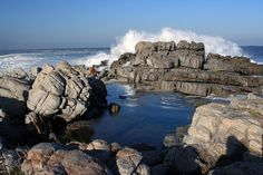 Rock pool, Hermanus, South Africa We Africa :) Come and Volunteer with us! Holiday Places, Holiday Destinations, Places To Travel, Places To See, Beautiful World, Beautiful Places, Visit South Africa, Namibia, Rock Pools