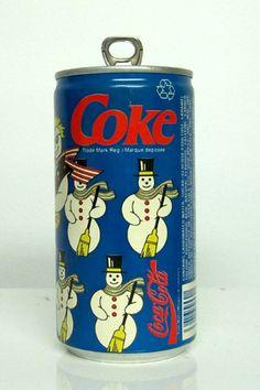 Snowman Coke Can
