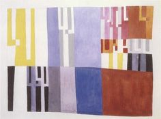Sophie Taeuber Composition à rectangles et bras angulaires / Composition with rectangles and angular extensions Gouache sur papier / Gouache on paper 27.7 x 37.6 cm 1928