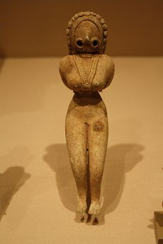 Indus Valley terracotta figurine of a fertility goddess, Pakistan/Western India c. 3000 to 2500 BC.