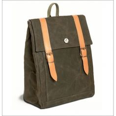 Burban bags - Waxed canvas and leather backpack with tablet or small laptop compartment. Handcrafted in Greece Waxed Canvas, Canvas Backpack, Travel Accessories, Bag Making, Travel Bags, Leather Backpack, Greece, Laptop, Backpacks