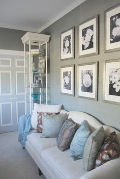 Love variety of paint colors on the door                                                 Wall Color - Restoration Hardware's Slate or Graphite paint