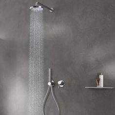 Keuco IXMO Circular Shower Head, Handshower, Hose and Diverter Option 2