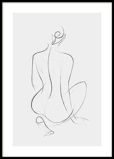 Art prints & Modern art - Buy your art posters online from Desenio Minimal Art, Minimal Drawings, Modern Art Prints, Wall Art Prints, Poster Prints, Art Posters, Art Sketches, Art Drawings, Sketches Of Women