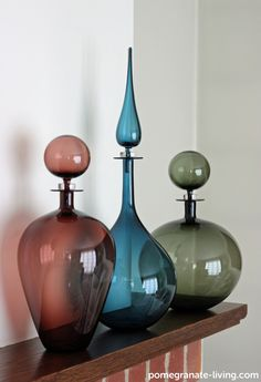 Our range of Petite Decanters fro US designer Joe Cariati. Click the lin for more details. http://www.pomegranate-living.com/brands-joe-cariati.irc