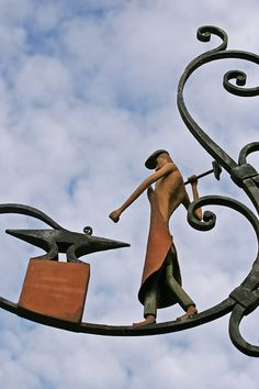 Limeuil, France - These clever metal works are so charming!