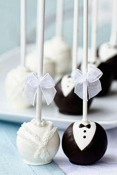 Wedding cake pops. | Cake Pops I love