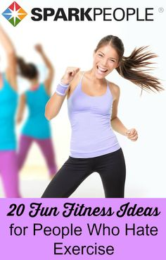 Hate to Exercise? Try These Ideas! | via @SparkPeople #workout #exercise #fitness